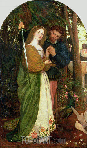 The Guarded Bower, 1866 | Arthur Hughes | Painting Reproduction