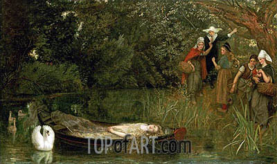 The Lady of Shalott, 1858 | Arthur Hughes| Painting Reproduction