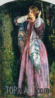 Amy (Study For The Long Engagement), 1857 | Arthur Hughes| Painting Reproduction