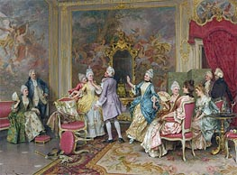 A Game of Tag, Undated by Arturo Ricci   Painting Reproduction