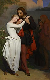 Faust and Marguerite in the Garden, 1846 von Ary Scheffer | Gemälde-Reproduktion