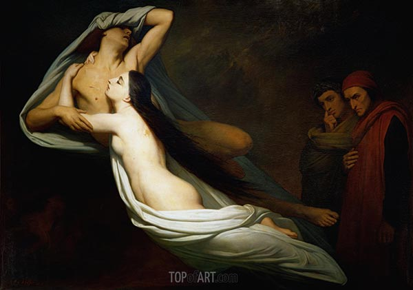 Francesca da Rimini, 1835 | Ary Scheffer | Painting Reproduction