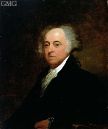 Portrait of John Adams, 1835 by Asher Brown Durand | Painting Reproduction