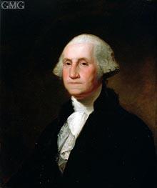 Portrait of George Washington, Undated von Asher Brown Durand | Gemälde-Reproduktion