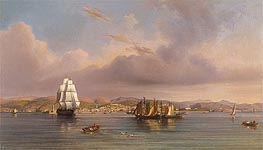 Trieste, 1858 by August Anton Tischbein | Painting Reproduction