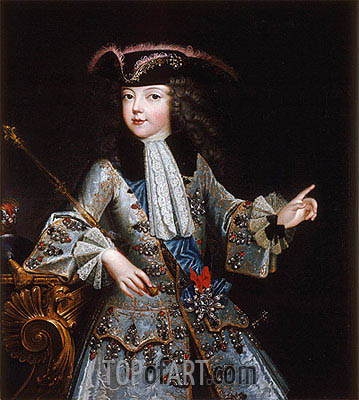 Portrait of Louis XV, 1717 | Augustin Justinat | Painting Reproduction