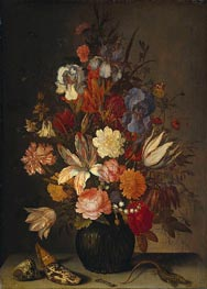 Still Life with Flowers, c.1632/57 von van der Ast | Gemälde-Reproduktion