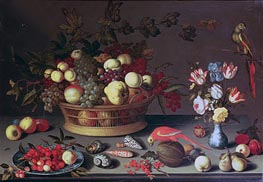 A Basket of Grapes and other Fruit, Undated by van der Ast | Painting Reproduction