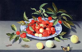 Still Life of Cherries and Peaches, undated von van der Ast | Gemälde-Reproduktion