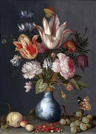 Flowers in a Blue and White Gilt Vase | van der Ast | outdated