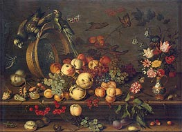 Still Life with Fruits, Shells and Insects, c.1620 von van der Ast | Gemälde-Reproduktion