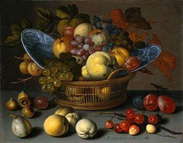 Basket of Fruits | van der Ast | Painting Reproduction