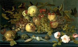 Still Life with Fruits, undated by van der Ast | Painting Reproduction