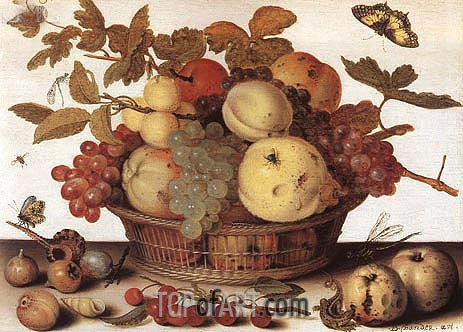 van der Ast | Basket of Fruits, c.1632