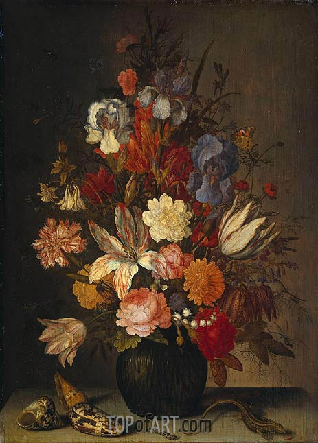 Still Life with Flowers, c.1632/57 | van der Ast| Painting Reproduction
