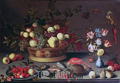 A Basket of Grapes and other Fruit, Undated | van der Ast | Painting Reproduction