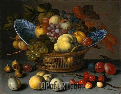 Basket of Fruits, c.1622 | van der Ast | Painting Reproduction