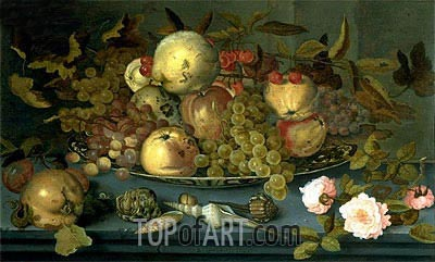 Still Life with Fruits, undated | van der Ast | Gemälde Reproduktion