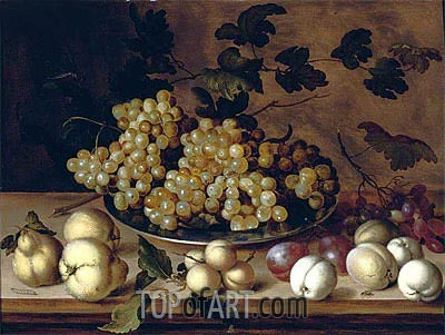 Still Life of Fruits, undated | van der Ast | Gemälde Reproduktion
