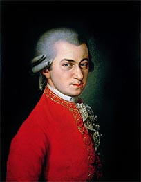 Portrait of Wolfgang Amadeus Mozart, 1818 by Barbara Krafft | Painting Reproduction