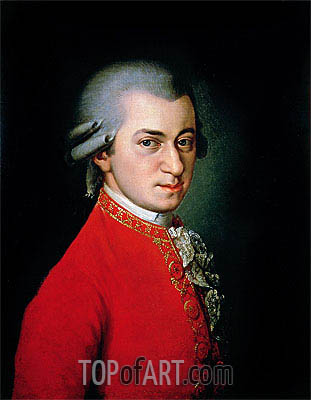 Portrait of Wolfgang Amadeus Mozart, 1818 | Barbara Krafft | Painting Reproduction