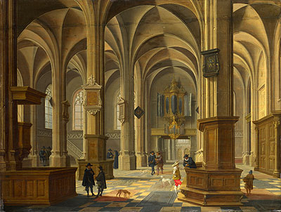 Interior of St Cunerakerk, Rhenen, 1638 | Bartholomeus van Bassen| Painting Reproduction