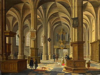 Bartholomeus van Bassen | Interior of St Cunerakerk, Rhenen, 1638