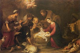 The Adoration of the Shepherds, c.1665/68 von Murillo | Gemälde-Reproduktion