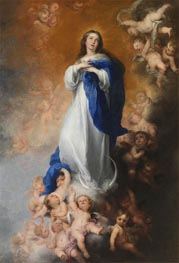 The Immaculate Conception of Los Venerables | Murillo | Painting Reproduction