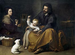 The Holy Family with a Little Bird | Murillo | Painting Reproduction