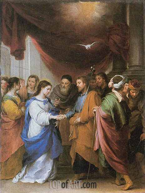 The Marriage of the Virgin, c.1660/70 | Murillo | Painting Reproduction