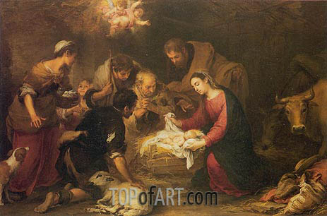 Murillo | The Adoration of the Shepherds, c.1665/68