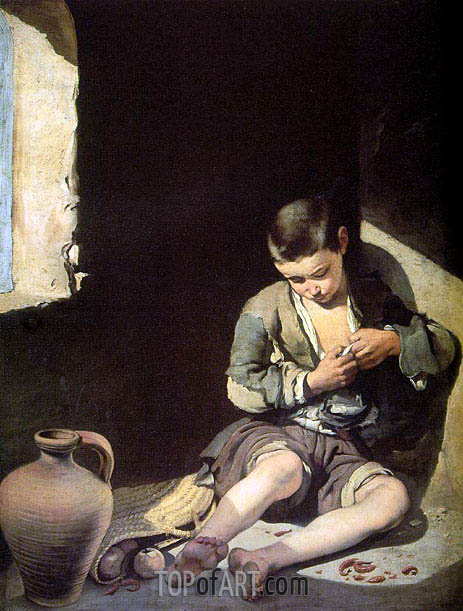 The Young Beggar, c.1650 | Murillo | Painting Reproduction