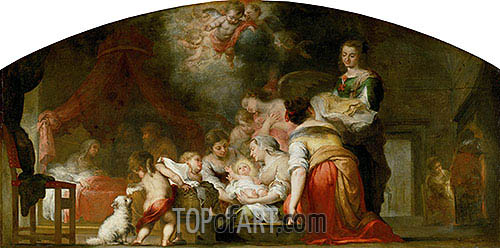 The Birth of the Virgin, 1661 | Murillo| Painting Reproduction