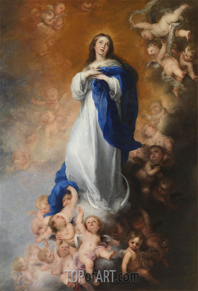 The Immaculate Conception of Los Venerables, c.1678 | Murillo | Painting Reproduction
