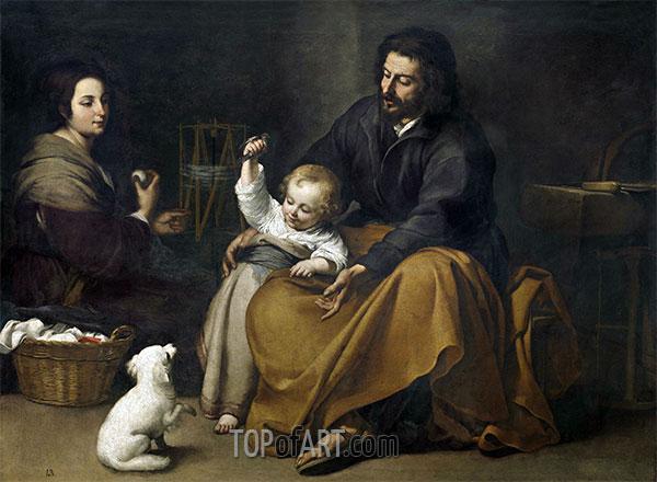 Murillo | Die Heilige Familie mit kleinen vogel, c.1650
