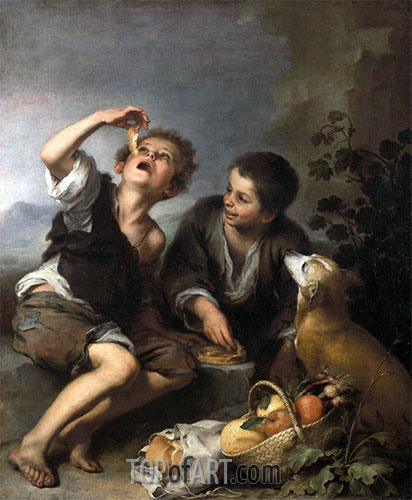 The Pie Eaters, c.1675/82 | Murillo | Painting Reproduction