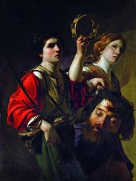 David Triumphant, undated by Bartolomeo Manfredi | Painting Reproduction