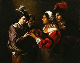 The Fortune Teller, c.1616/17 von Bartolomeo Manfredi | Gemälde-Reproduktion