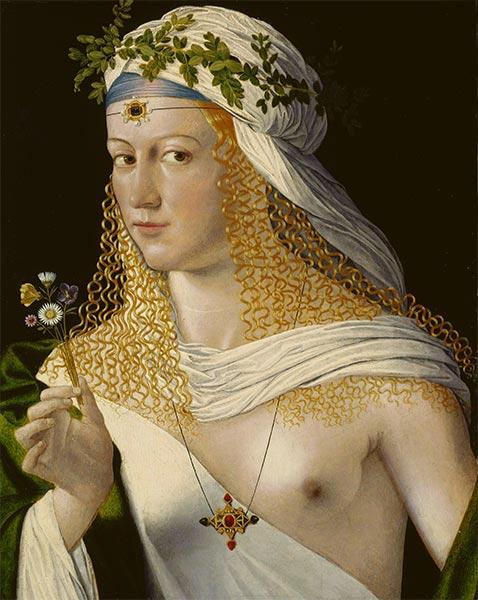 Bartolommeo da Veneto | Young Woman (Lucrezia Borgia), early 16th