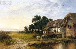 Returning Home, 1897 by Benjamin Williams Leader | Painting Reproduction