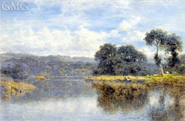 A Fine Day on the Thames, 1907 by Benjamin Williams Leader | Painting Reproduction
