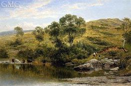 A Quiet Pool on the River Llugwy, Near Capel Curig, 1872 von Benjamin Williams Leader | Gemälde-Reproduktion