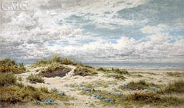 A Sandy Shore on the South Coast | Benjamin Williams Leader | Painting Reproduction
