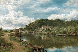 On the Stour near Flatford Mill, Suffolk, 1901 von Benjamin Williams Leader | Gemälde-Reproduktion
