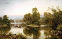 Summer Eve by Haunted Stream | Benjamin Williams Leader | Painting Reproduction