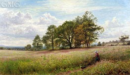 Summer Time: Through the Hayfield, Worcestershire | Benjamin Williams Leader | Painting Reproduction