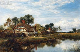 Worcestershire Cottages, 1894 von Benjamin Williams Leader | Gemälde-Reproduktion