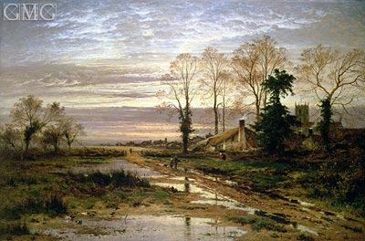 February Fill Dyke,  | Benjamin Williams Leader | Painting Reproduction