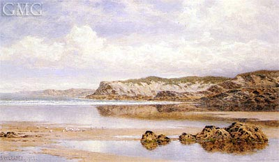 The Incoming Tide, Porth Newquay, 1912 | Benjamin Williams Leader | Painting Reproduction